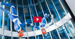 Indoor skydive tricks
