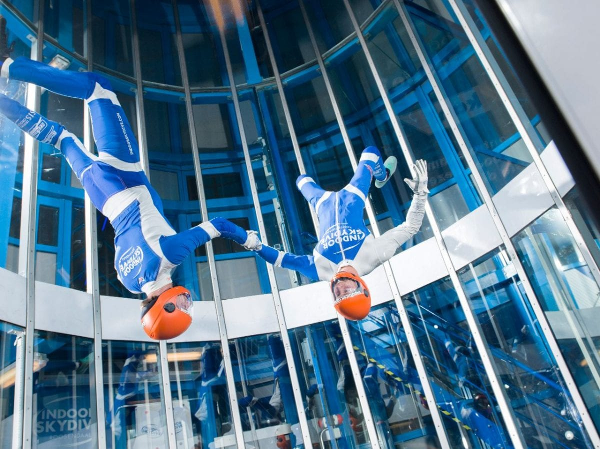 Indoor skydive instructeurs Roosendaal