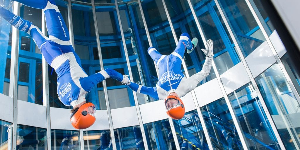 indoor skydive trainingen