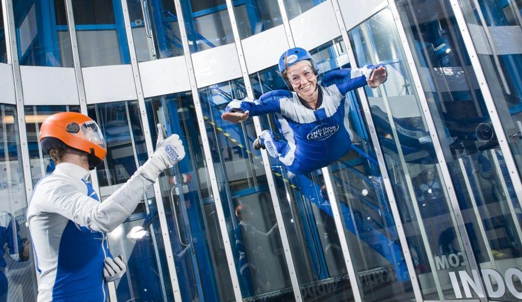 Korting op indoor skydiven