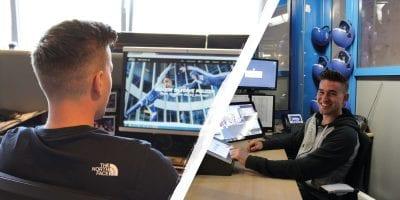 Achter de schermen: Sjoerd loopt stage op de marketingafdeling én werkt in de windtunnel