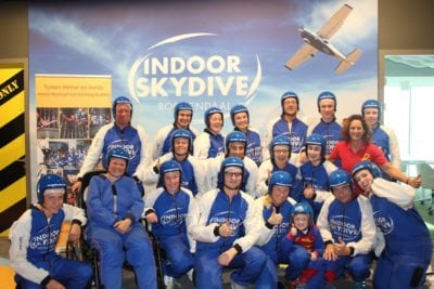 Stichting Buddies kwam indoor skydiven!