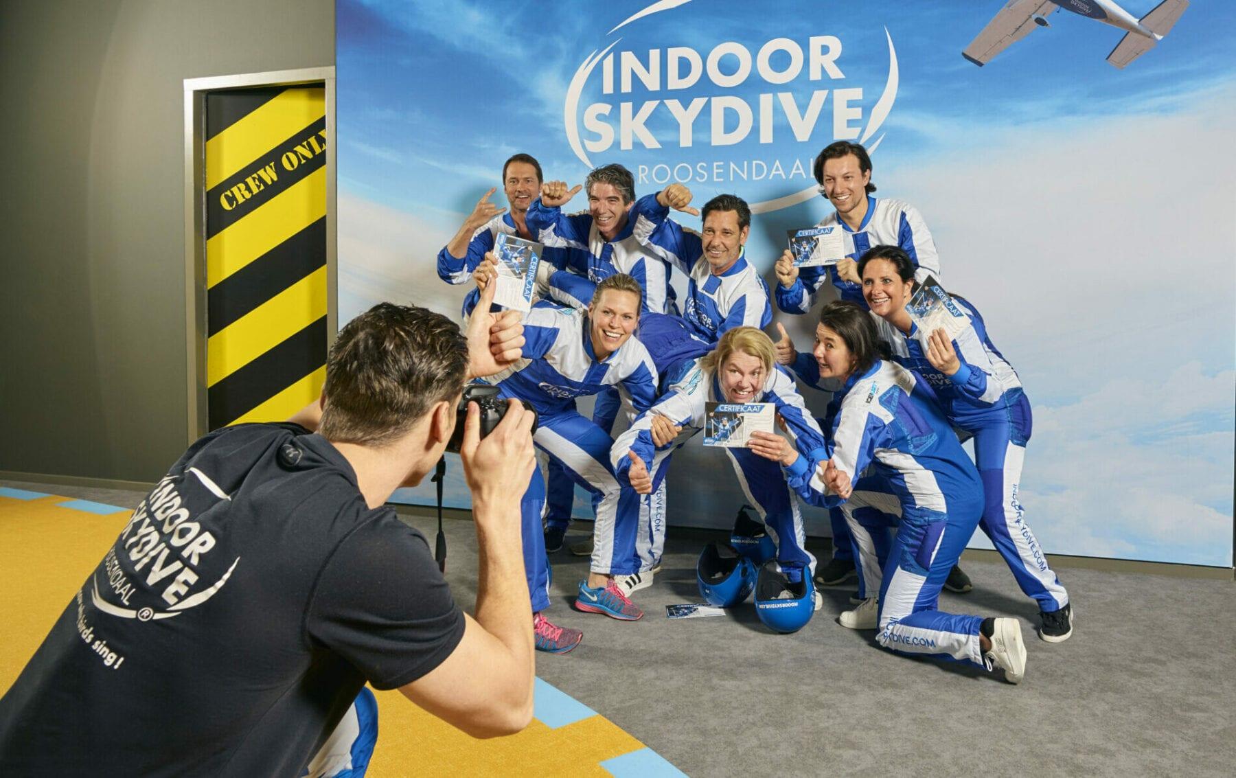 Bedrijfsuitjes Grote groepen - Indoor Skydive Roosendaal