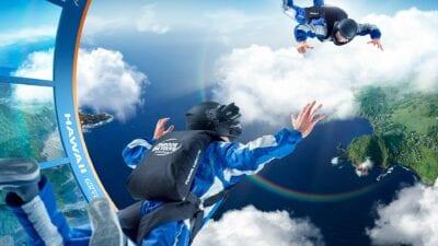 (Indoor) skydiven boven de mooiste wereldbestemmingen