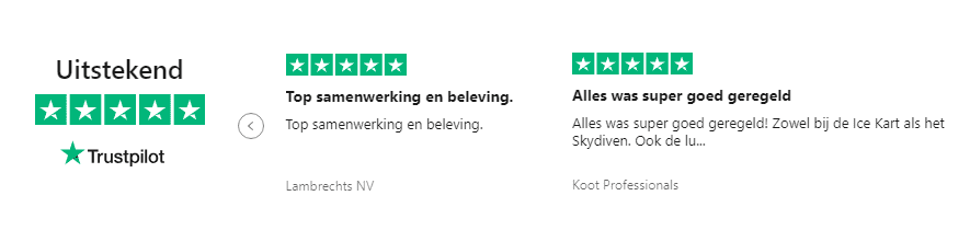 Trustpilot review Indoor Skydive