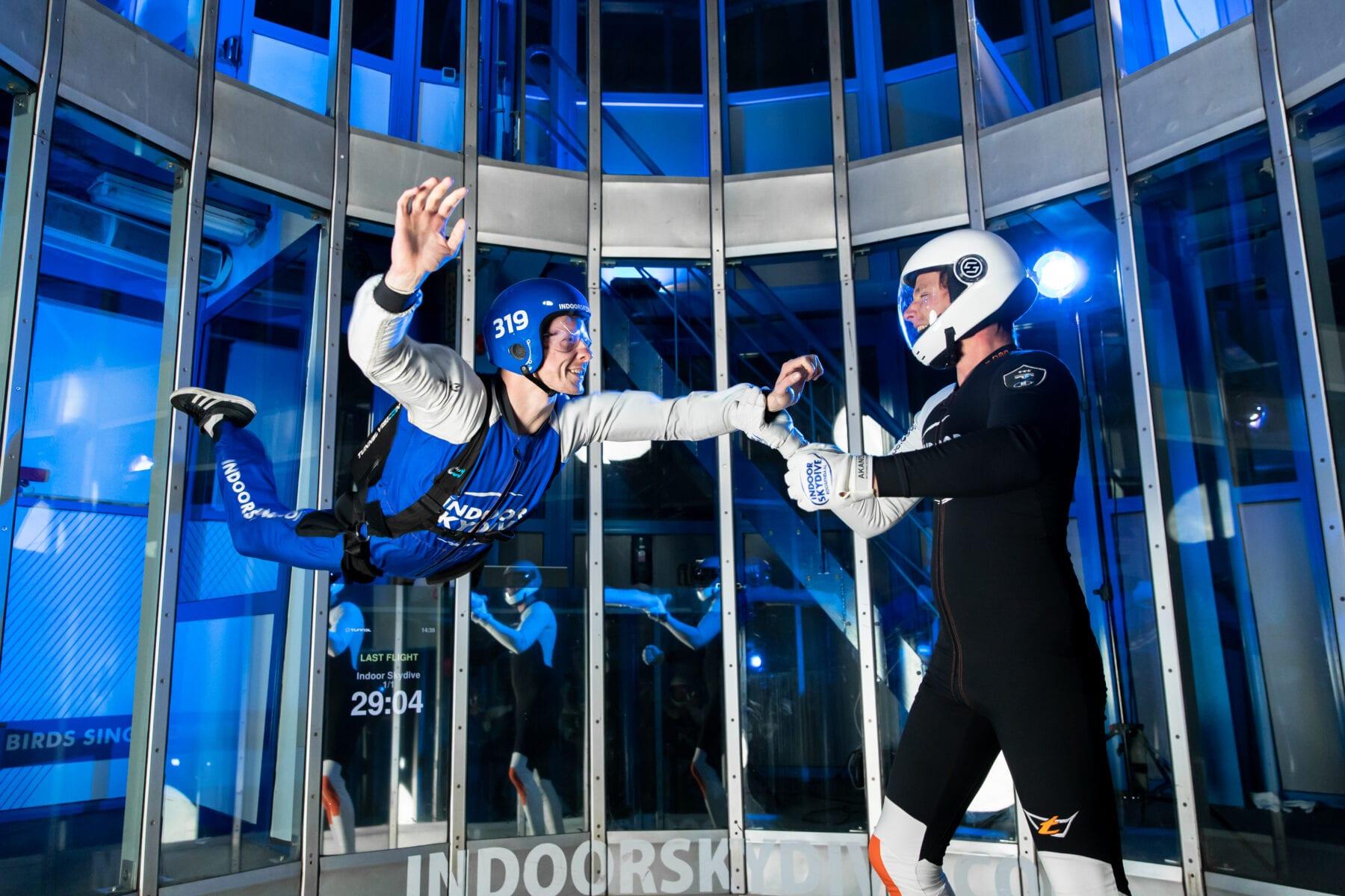 Een trainingsdag bij Indoor Skydive Roosendaal