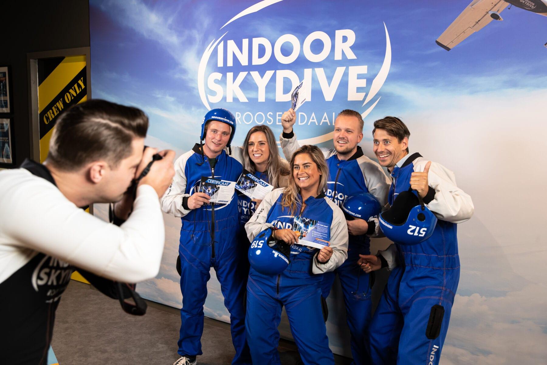 indoor skydive groep